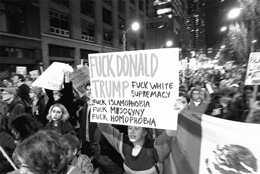 Protest against Trump